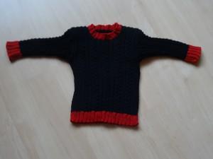 Pullover - schwarzrot Grösse 92 Fr. 35.-