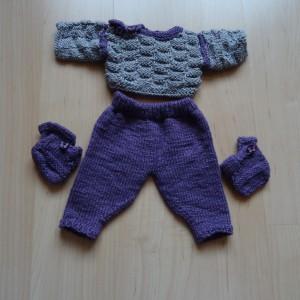 Pullover-Hosen-Finkli für Puppe von 30-35 cm Grösse Fr. 15.-