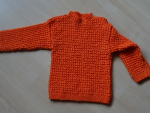 Pullover - orange Grösse 104 Fr. 37.-