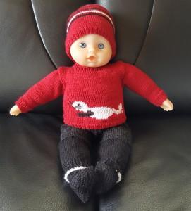 Puppe mit Kleider, 35 cm Grösse mit weichem Körper (Auf Anfrage sind Kleider auch ohne Puppe zu kaufen) Fr. 50.-